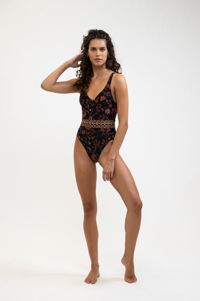 Toluca Underwire One Piece Black