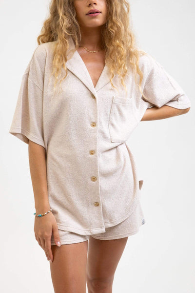 Josie Knitted Shirt Sand