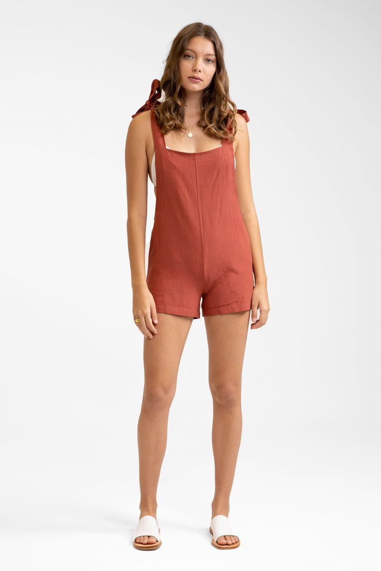 Tie Up Jumpsuit Clay
