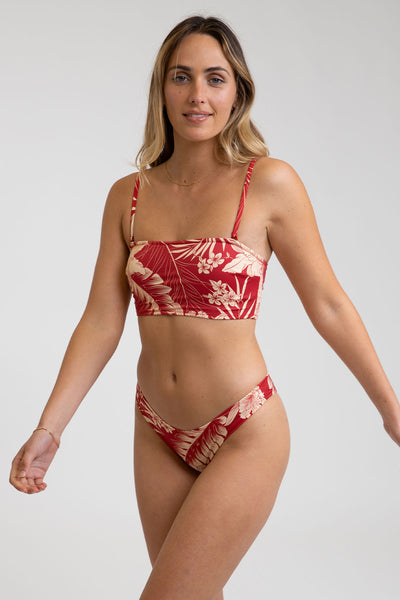 Mahina Long Bandeau Top Scarlet