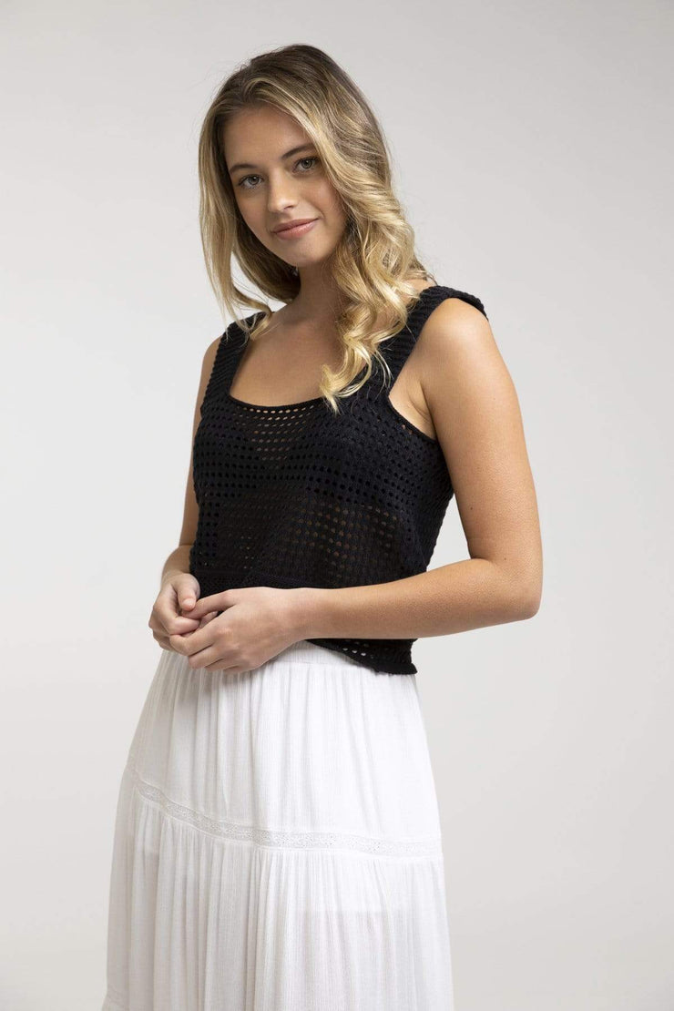 Crochet Top Black