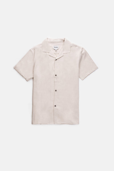 Linen Cuban Ss Shirt Bone