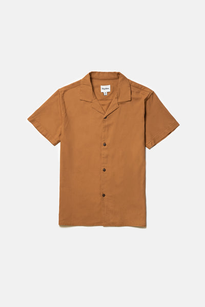 Linen Cuban Ss Shirt Almond