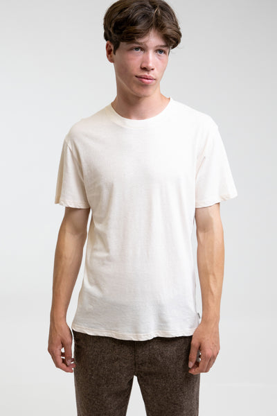 Premium Linen T-Shirt Antique White