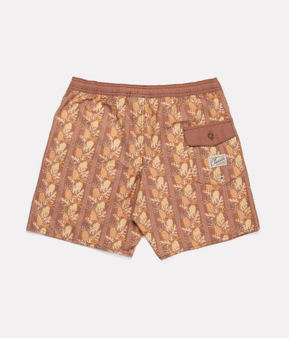 TIKI FLORAL BEACH SHORT COCONUT