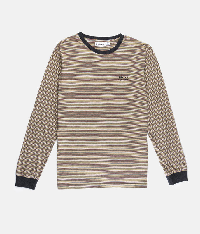 EVERYDAY STRIPE LS SHIRT CLAY