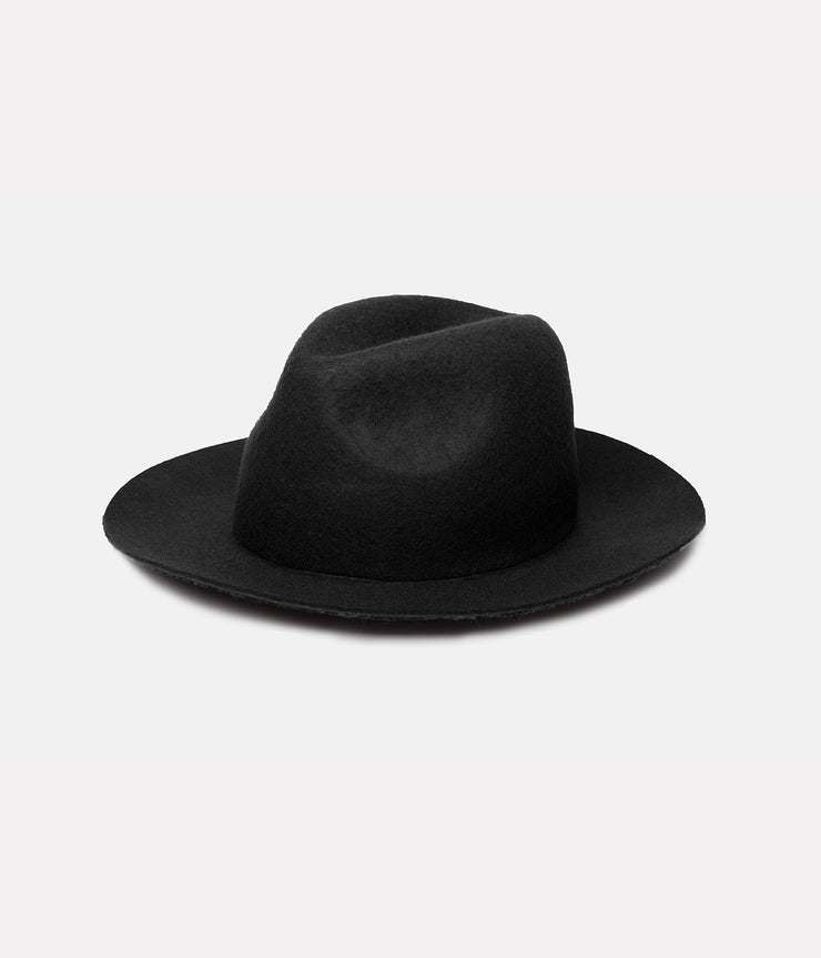 FIELDS FEDORA HAT BLACK