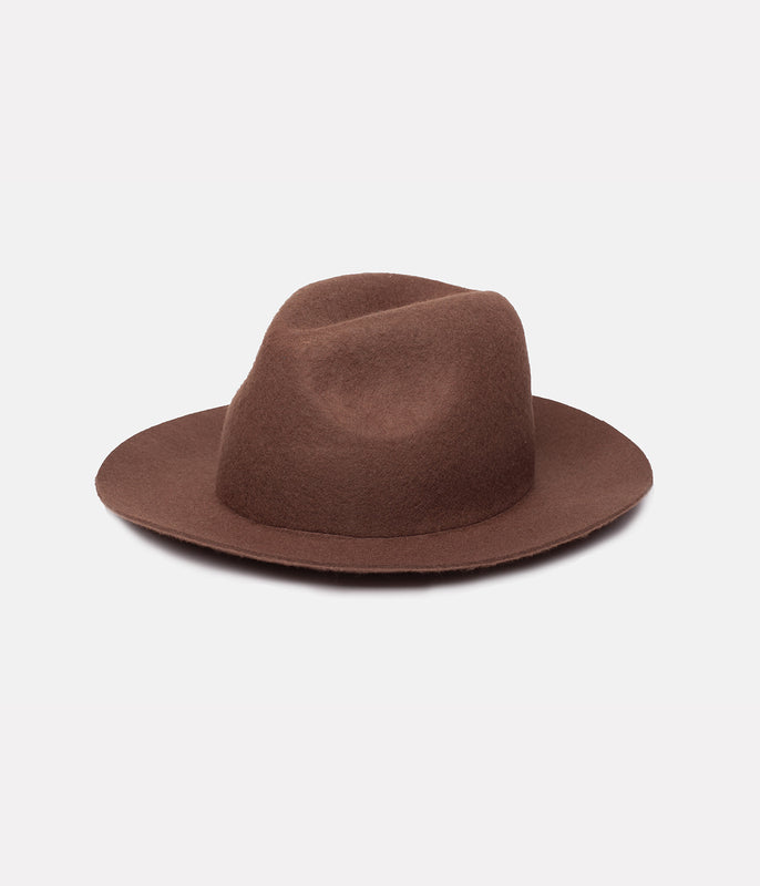 FIELDS FEDORA HAT BROWN