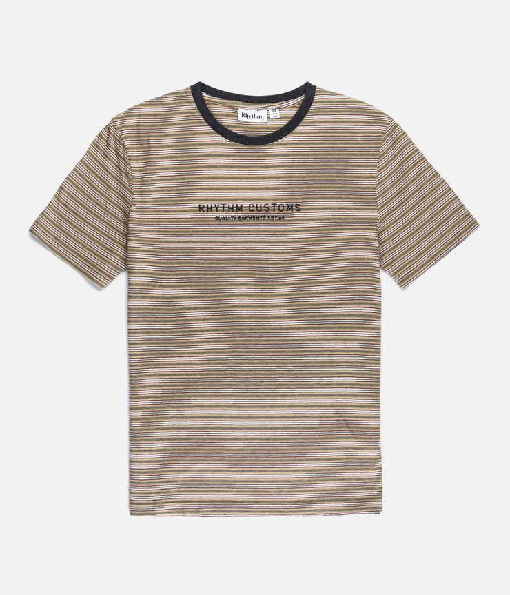 STUDIO STRIPE T-SHIRT CLAY
