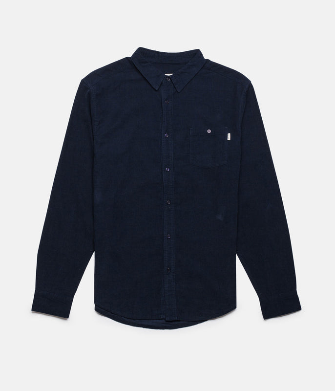 CORDUROY LS SHIRT DARK NAVY