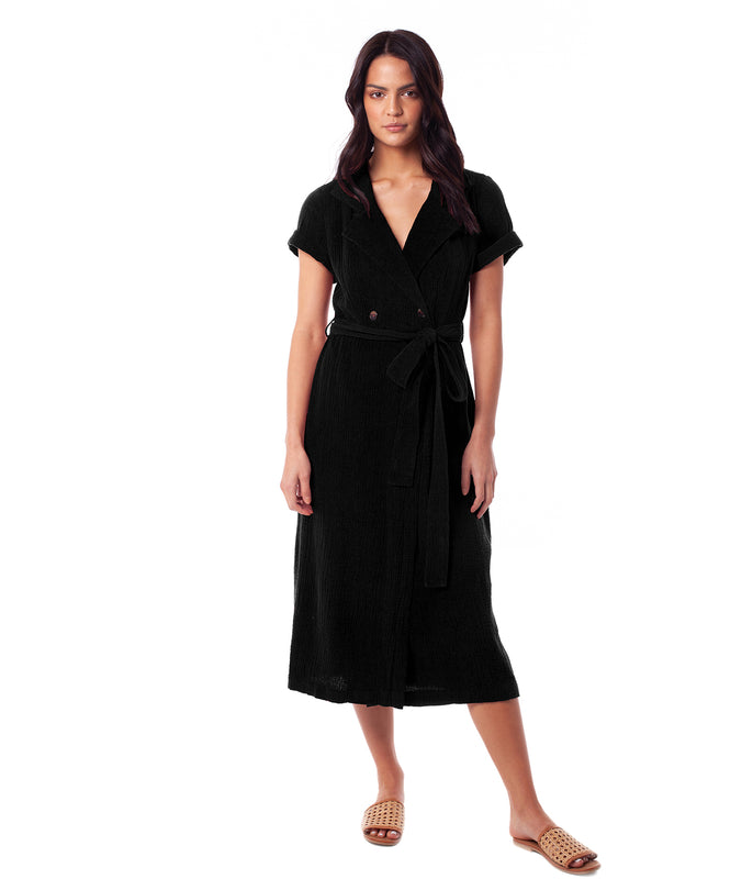 CAMILLE WRAP DRESS BLACK