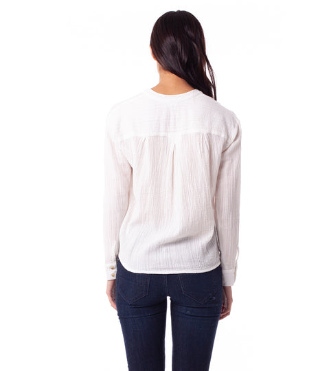 NOUMEA L/S TOP WHITE