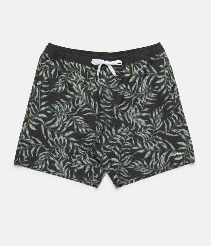 BOTANICAL BEACH SHORT VINTAGE BLACK