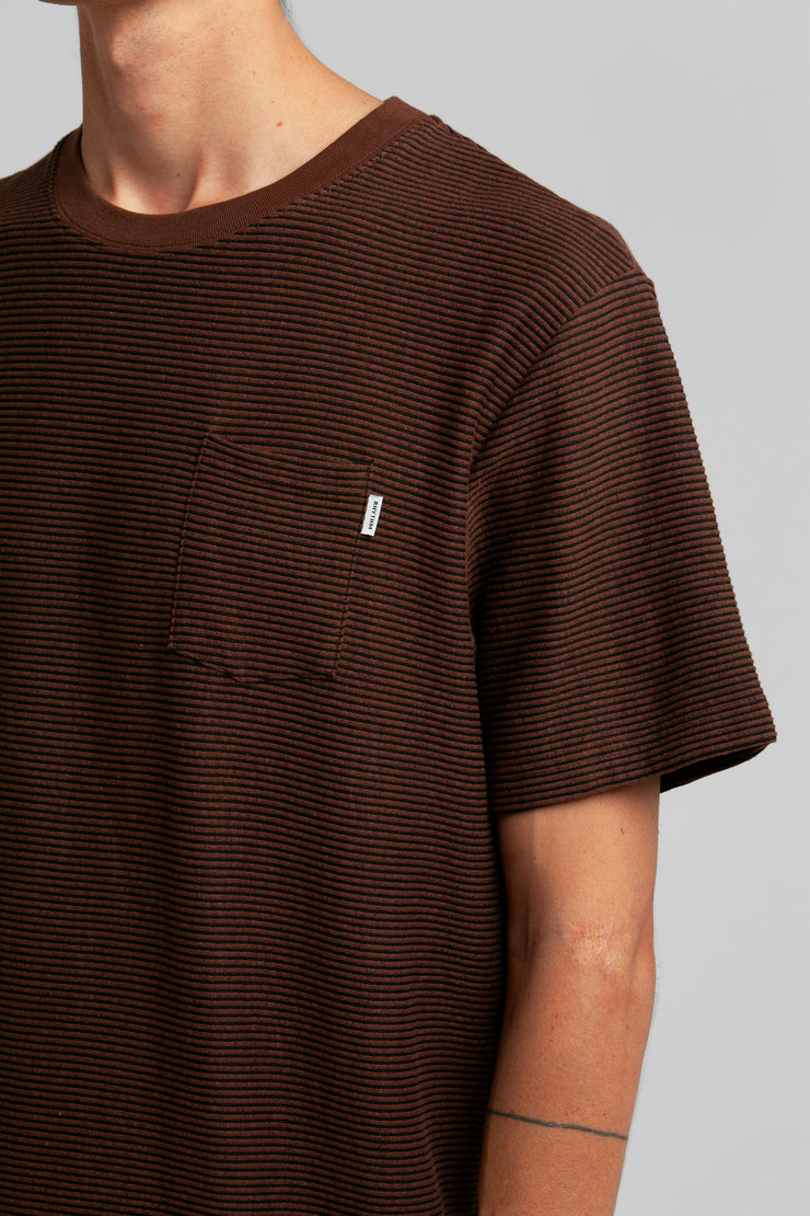 Friday Stripe T-Shirt Vintage Brown