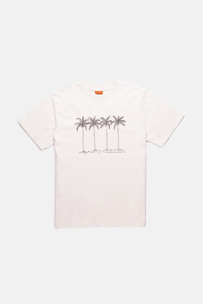 Palm Vintage T-Shirt Old White