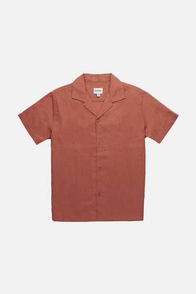 Linen Cuban Ss Shirt Vintage Brown