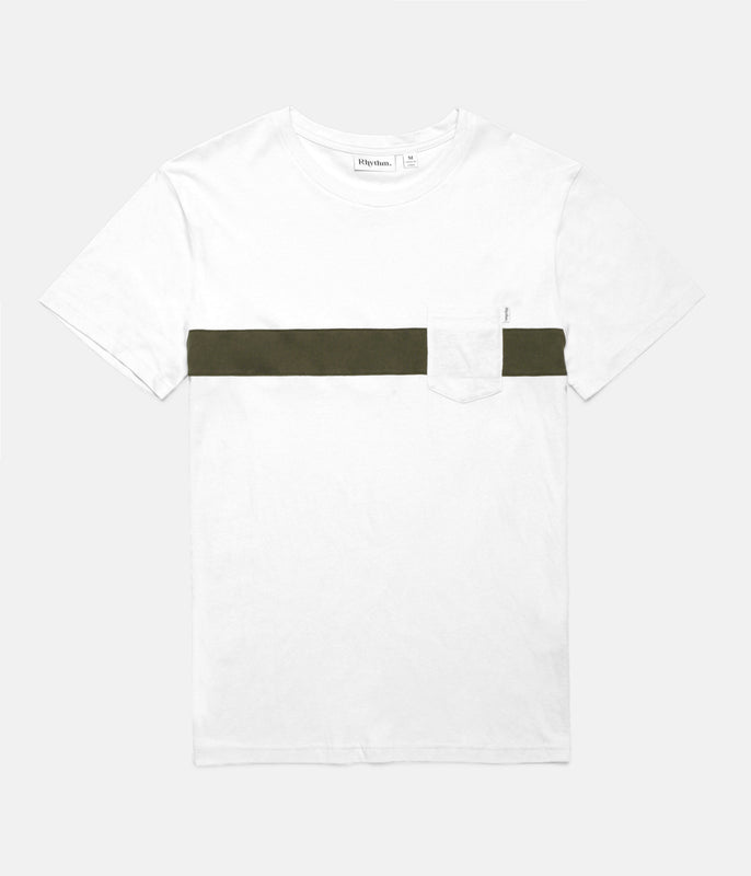 BEECHMONT T-SHIRT WHITE / OLIVE