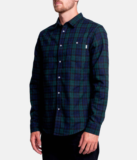 BRIGHTON LS SHIRT  NAVY / GREEN