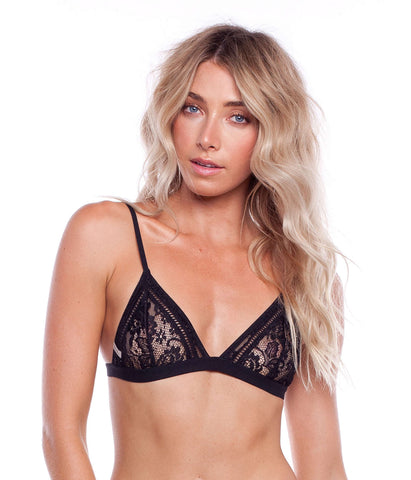 BELLE BRALETTE TOP BLACK
