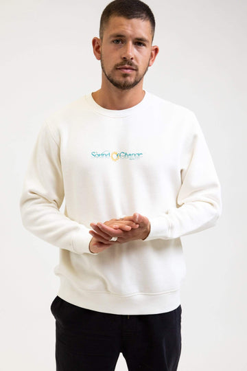 Sound Vintage Fleece Crew Vintage White