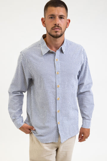 Bay Ls Shirt Stone Blue