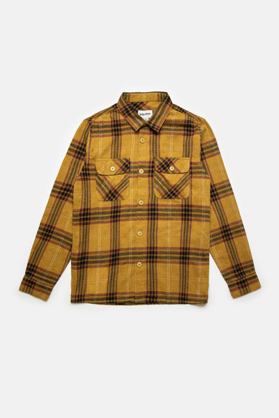Flannel Ls Shirt Vintage Gold
