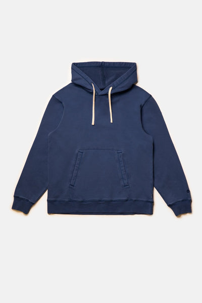 Uni Fleece Hood Washed Navy