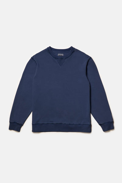 Uni Fleece Crew Washed Navy