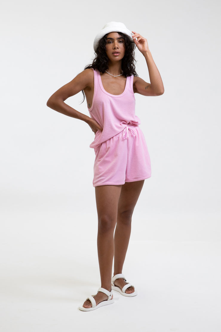 Terry Towelling Short Rose