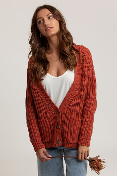 Cambridge Cardi Terracotta