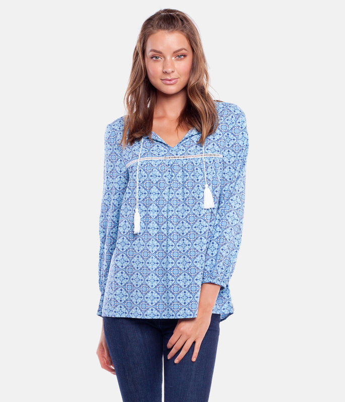 CENTURY TOP YVES BLUE
