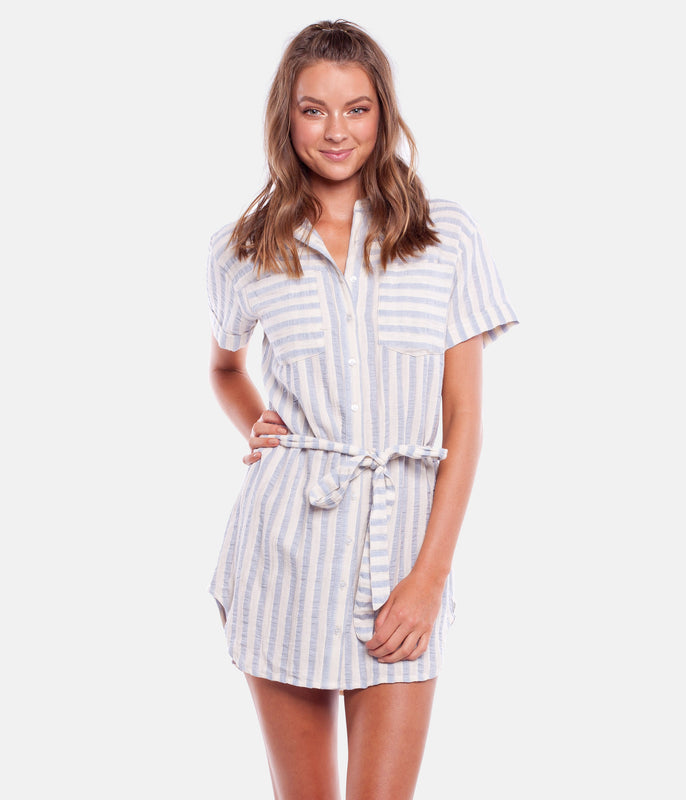 COASTAL DRESS CHAMBRAY