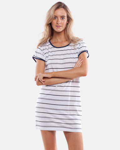 ESSENTIALS TEE DRESS WHITE