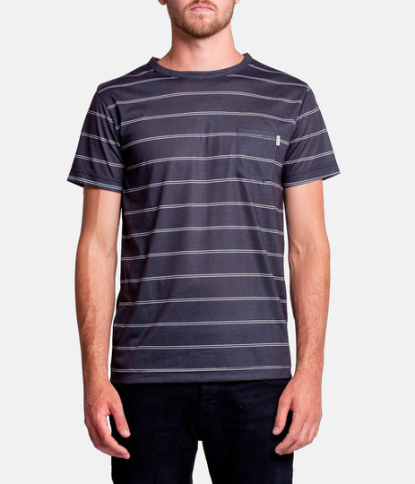 EVERYDAY STRIPE T-SHIRT BLACK