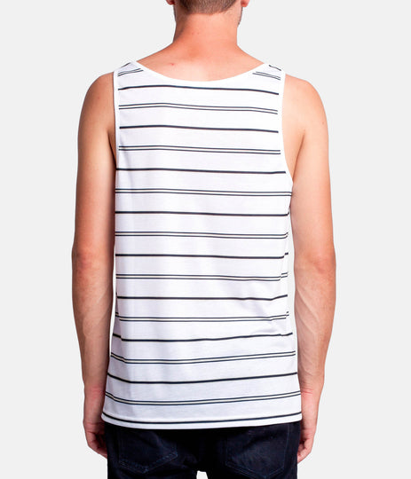 EVERYDAY STRIPE SINGLET NAVY