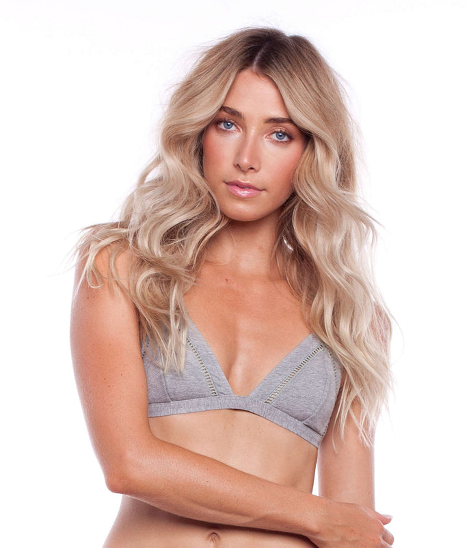 MY BRALETTE TOP GREY MARLE