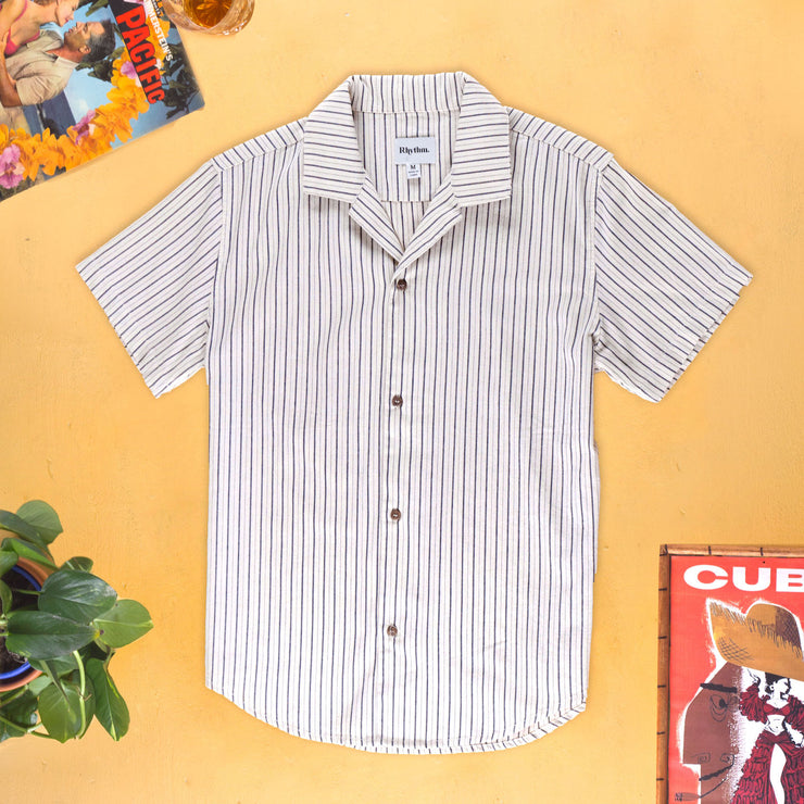 HOLIDAY STRIPE SS SHIRT NATURAL