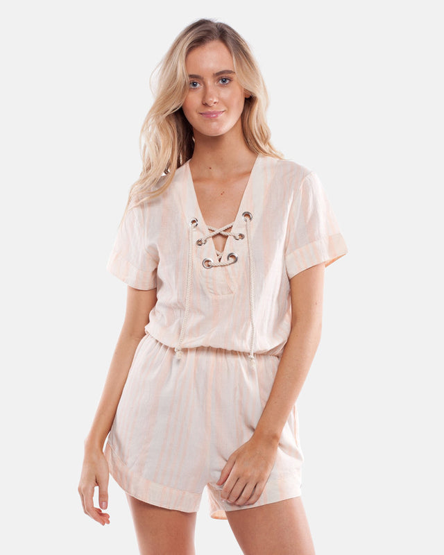 HOLIDAY JUMPSUIT PEACH