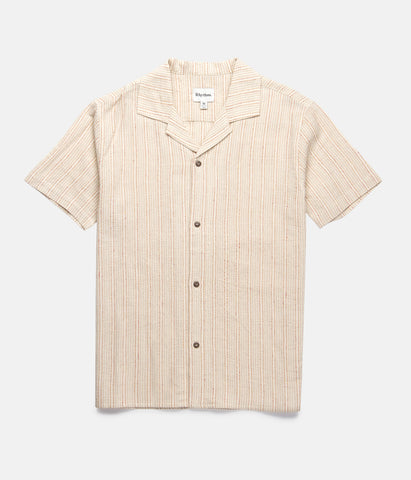 VACATION STRIPE SS SHIRT NATURAL