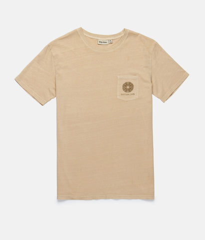 POCKET T-SHIRT WASHED PEACH
