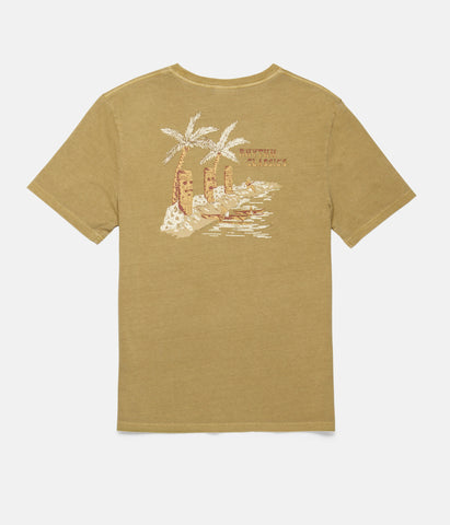TIKI BAY T-SHIRT WASHED SEAWEED