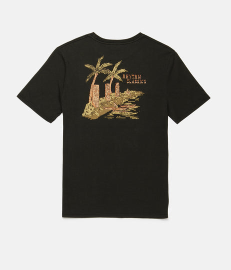 TIKI BAY T-SHIRT WASHED CHARCOAL