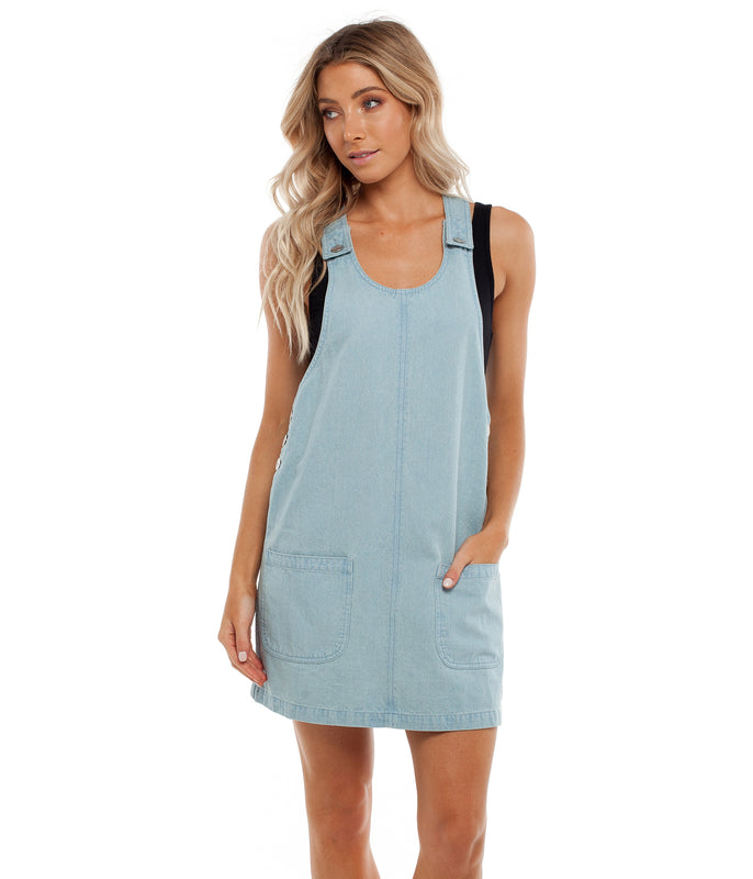 DAYBREAK PINAFORE DRESS DENIM