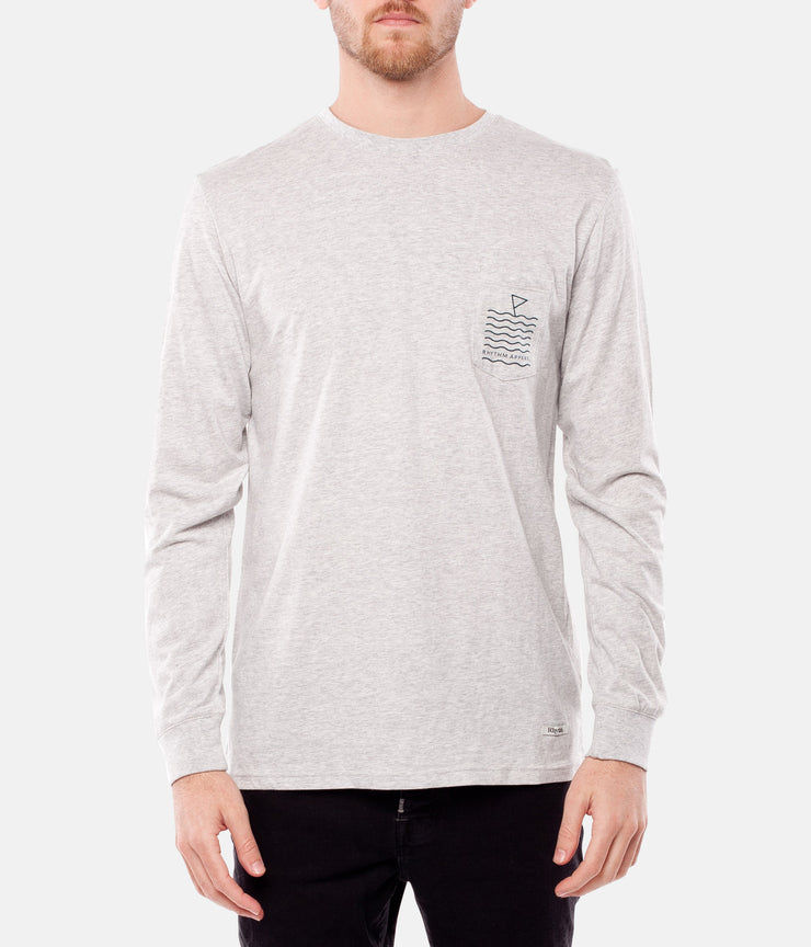 SWIM LS T-SHIRT GREY MARLE