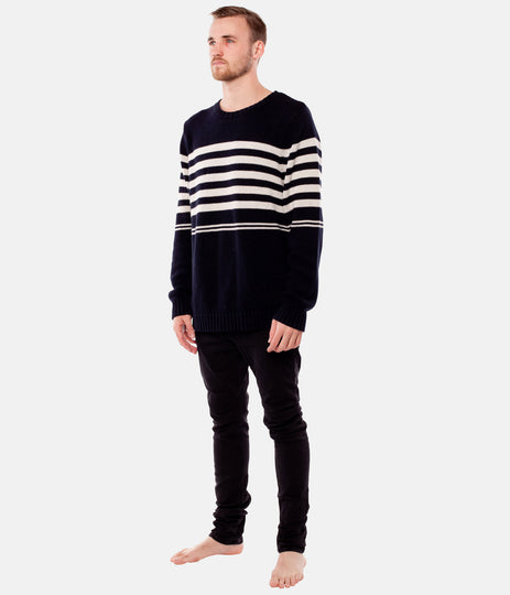 COLLINS STRIPE KNIT NAVY