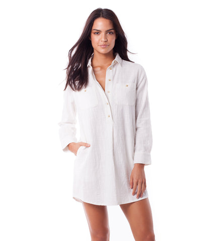 MALTA SHIRT DRESS WHITE