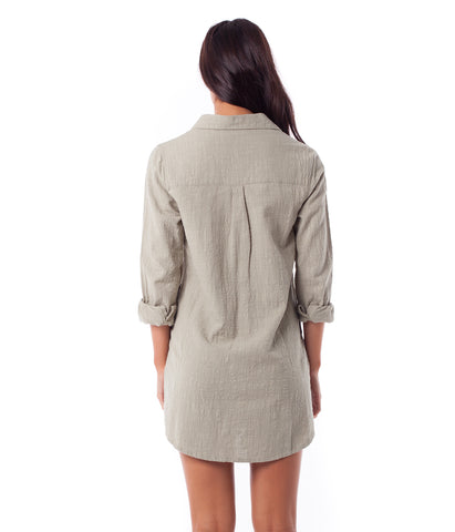 MALTA SHIRT DRESS IVY