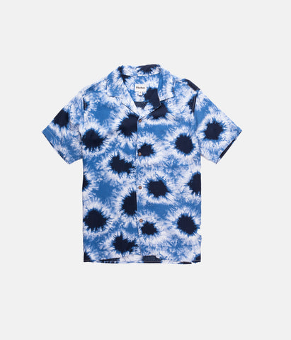 FIRST EDITION  TIE DYE SS SHIRT NAVY
