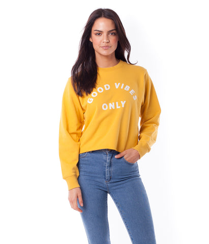 GOOD VIBES PULLOVER SUNSHINE