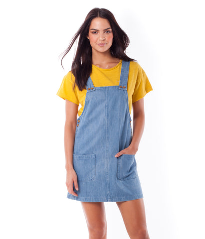BROOKLYN PINAFORE DRESS DENIM